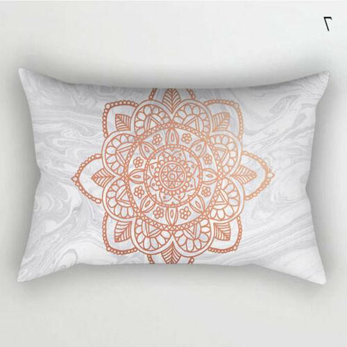 Rose Gold Cushion Cover Home Bedding Decor