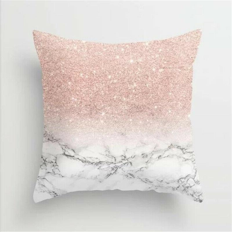 Rose Gold Throw Pillow Cases Bedroom Car Home Bed Decor