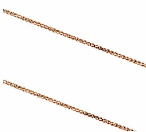 rose gold plated 925 sterling silver 1mm