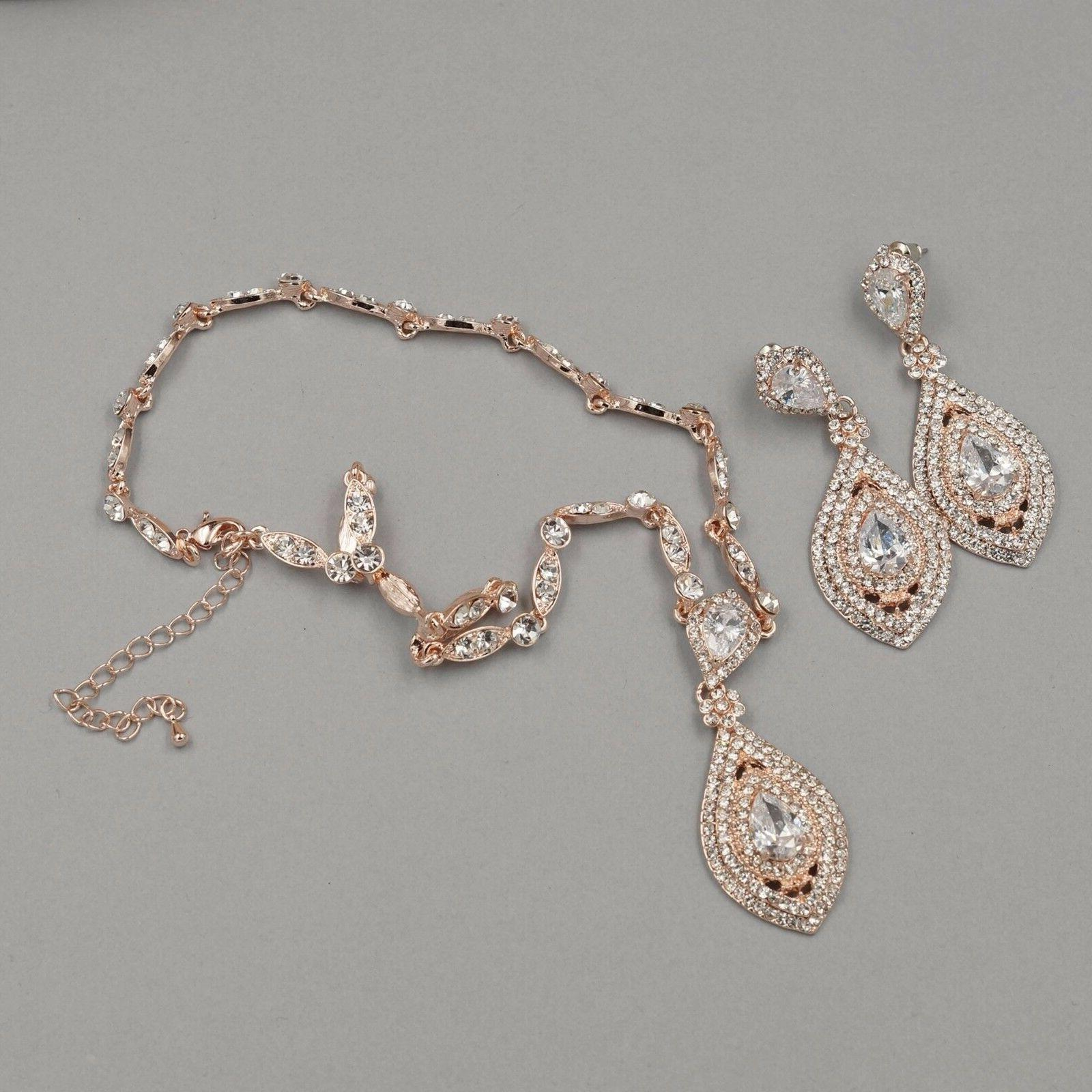 Rose Gold Plated Wedding Jewelry