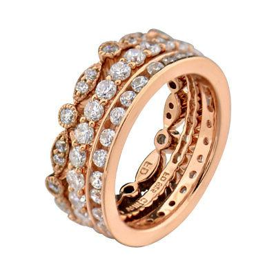 rose gold plated silver cz eternity women
