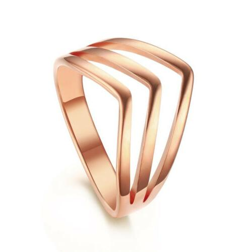 Rose Gold Stainless Steel Ring Men's/Women's Wedding Engagem