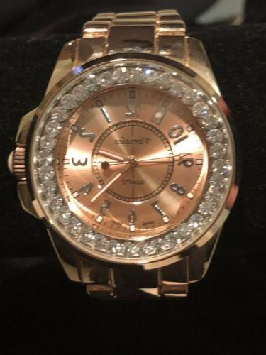 Varsales Gold Tone Crystal Accent BEAUTIFUL !