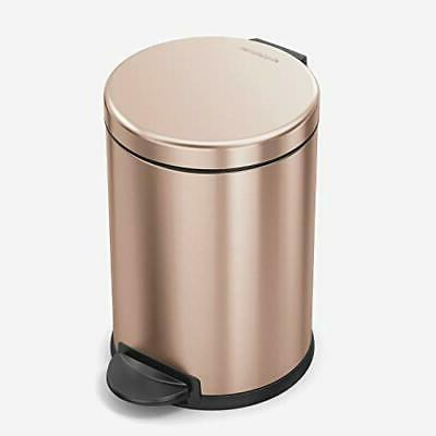 round trash can steel