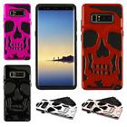 For Samsung Galaxy Note 8 SKULL Hard Hybrid Dual Layer Rubbe