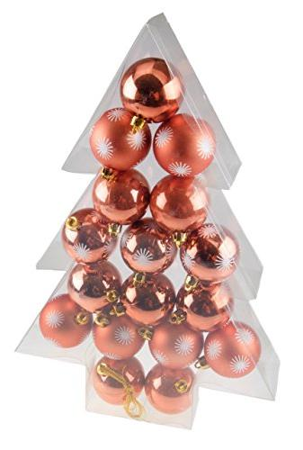 Copper Christmas Ornaments.Shatterproof Christmas Tree Ornaments By Clever Creations Large Copper 60mm Christmas Decor 17 Piece Set Perfect For Christmas Decorations