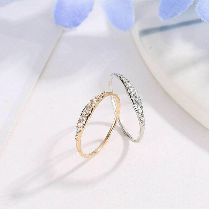 Size Womens Rose Rings Wedding Party Gift