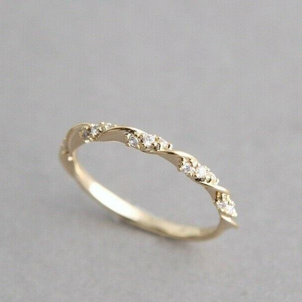 Size Womens Rose Gold Rings Jewelry Gift