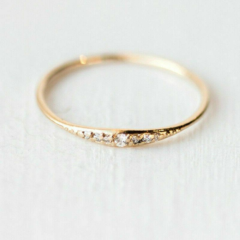 Size 5-10 Gold Inlaid Rings Gift