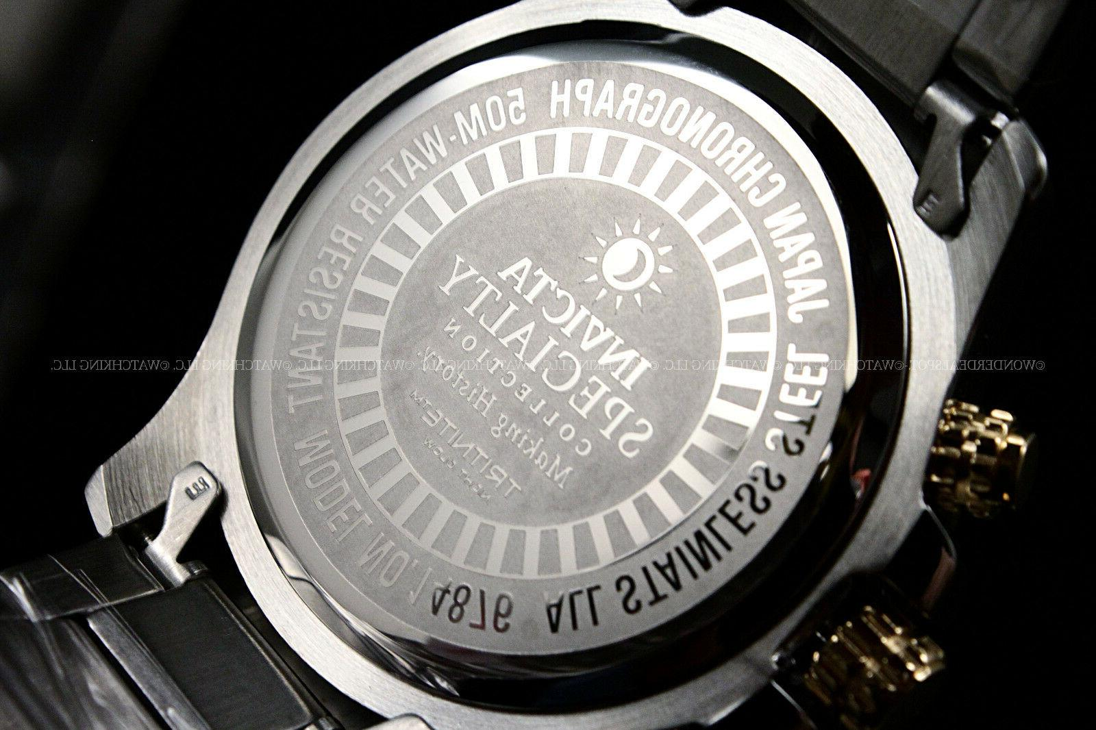 Invicta 18K Plated Two Tone Dial Chrono Watch