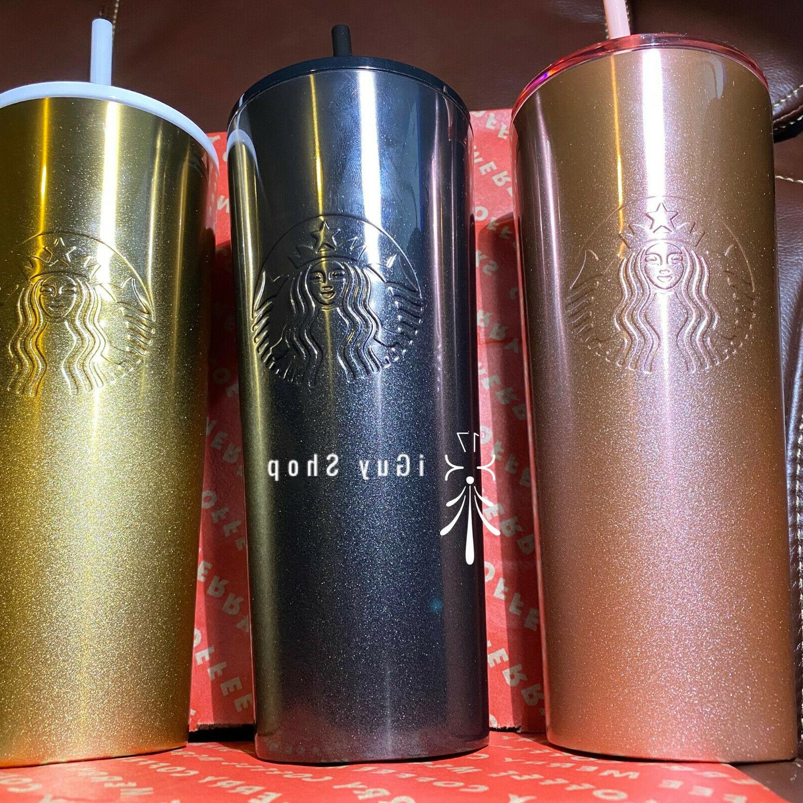 stainless glitter gradient tumblers set of 3