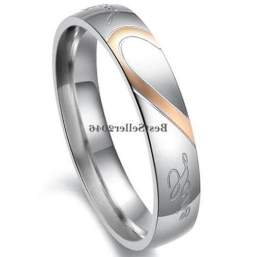 "Stainless Steel "" Love "" Heart Promise Band"