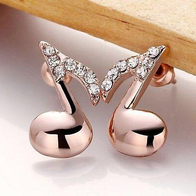 Acxico Stainless Fashion Music Note Earrings