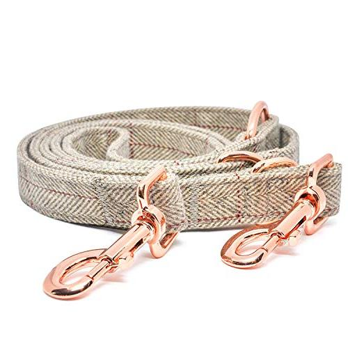 KUYOUGOU Stylish Dog Collar and Gold Rings Combo Cotton, Adjustable Different to Large