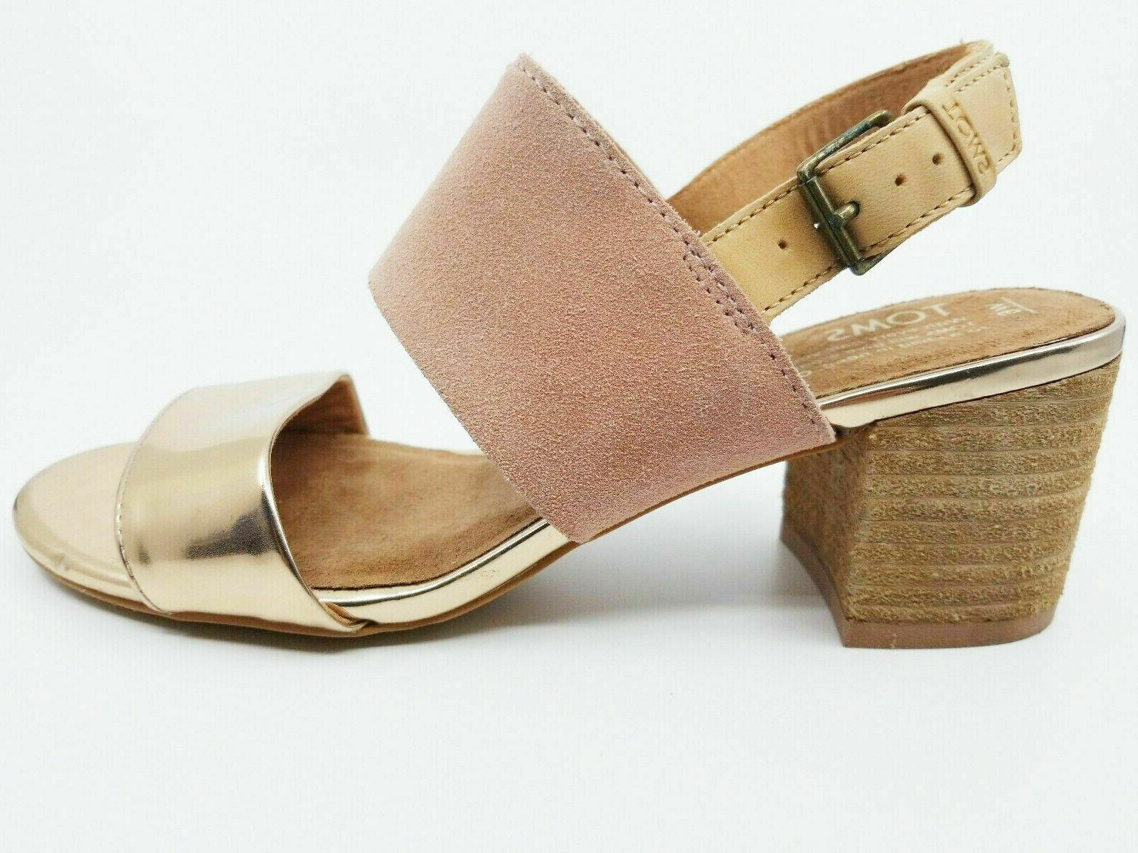 toms womens poppy sand bloom suede rose