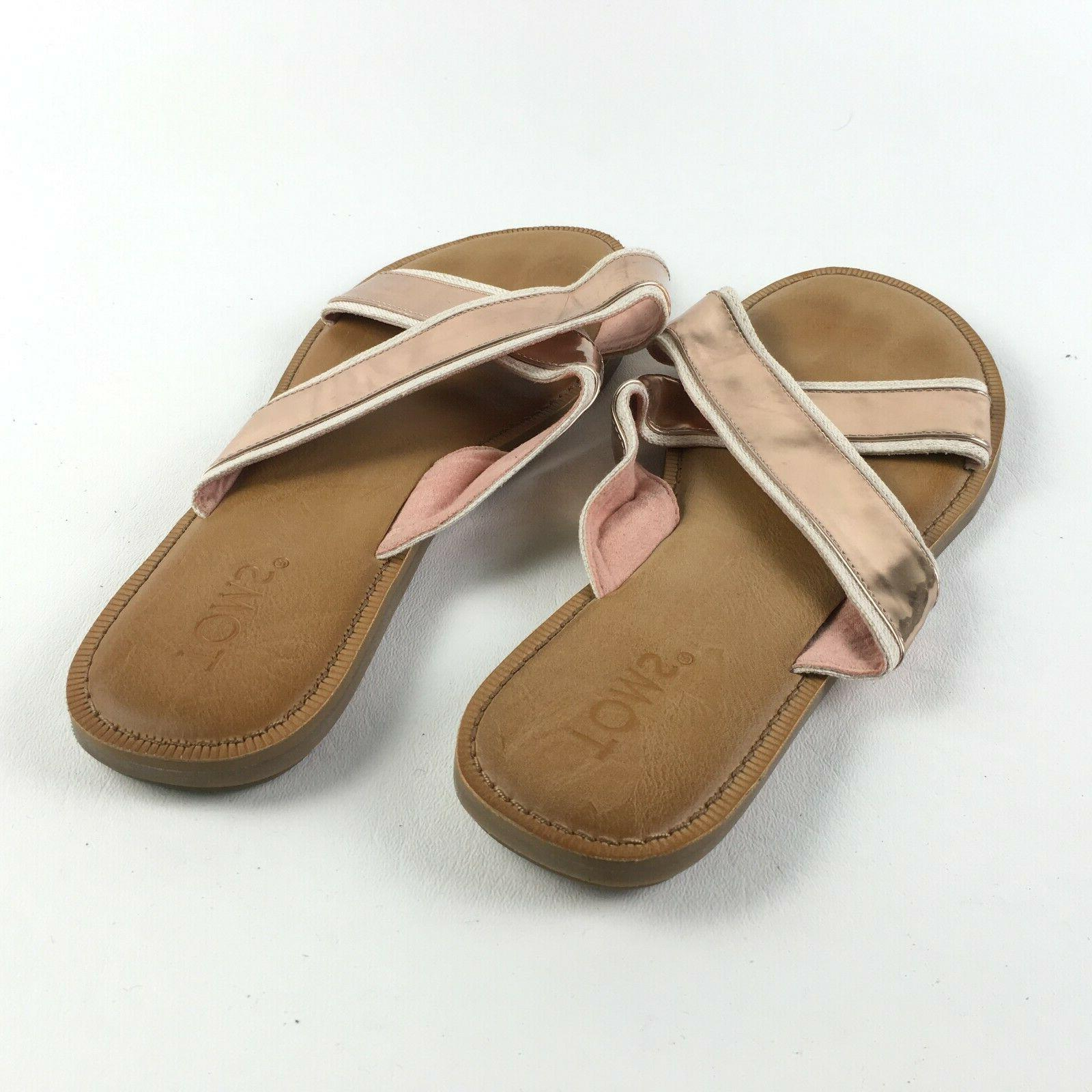 Toms Womens Rose Gold Shoes Sandals