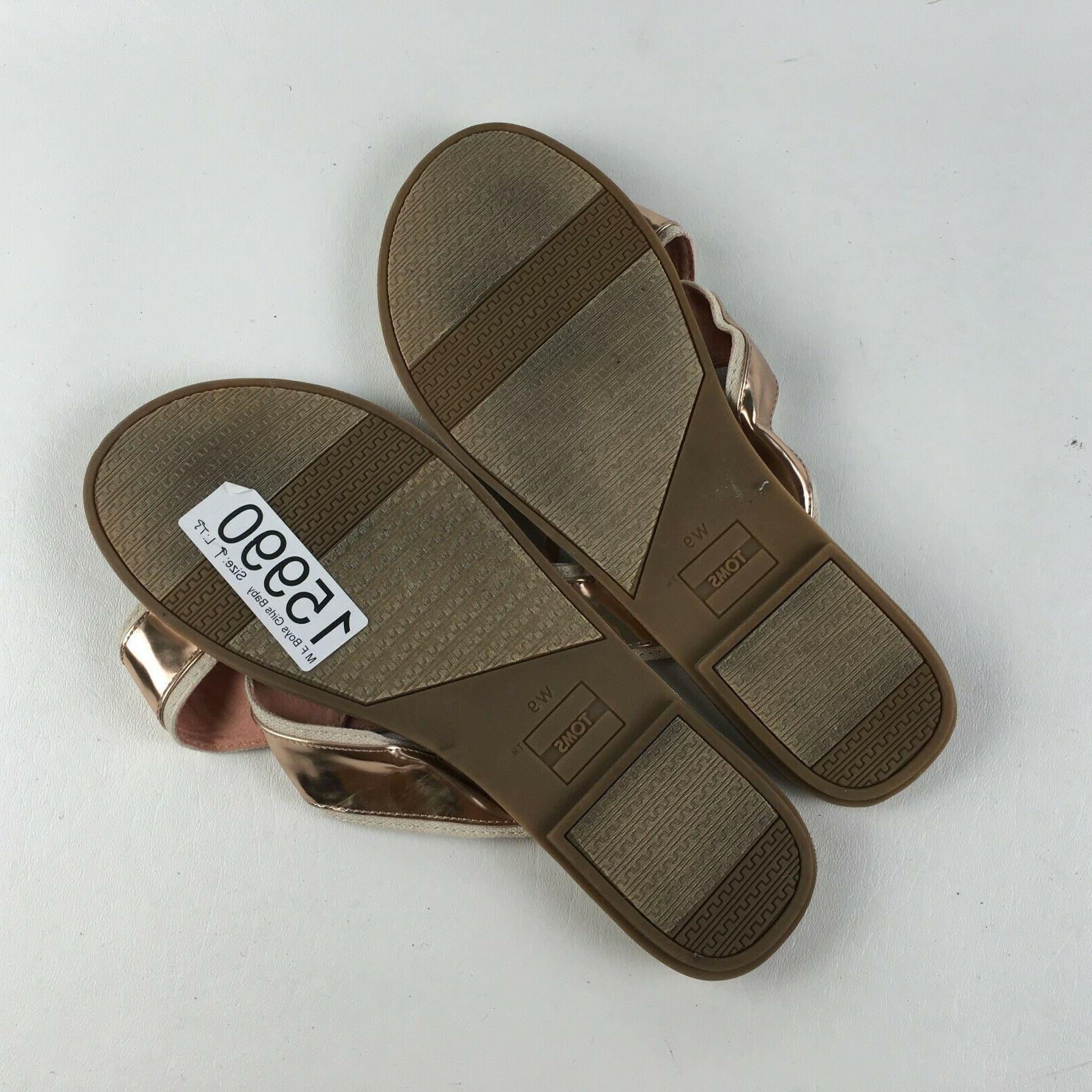 Toms Womens Gold Shoes Spring Sandals