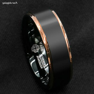 Tungsten gold Band jewelry