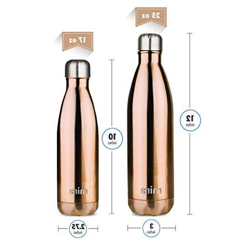 MIRA Insulated Travel Water Double Steel Cola Sports Bottle   Keeps & Cold   Oz   Rose