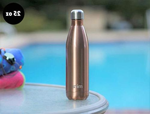 MIRA Water Double Cola Shape Sports Bottle Keeps Drink & Cold Oz   Rose Gold
