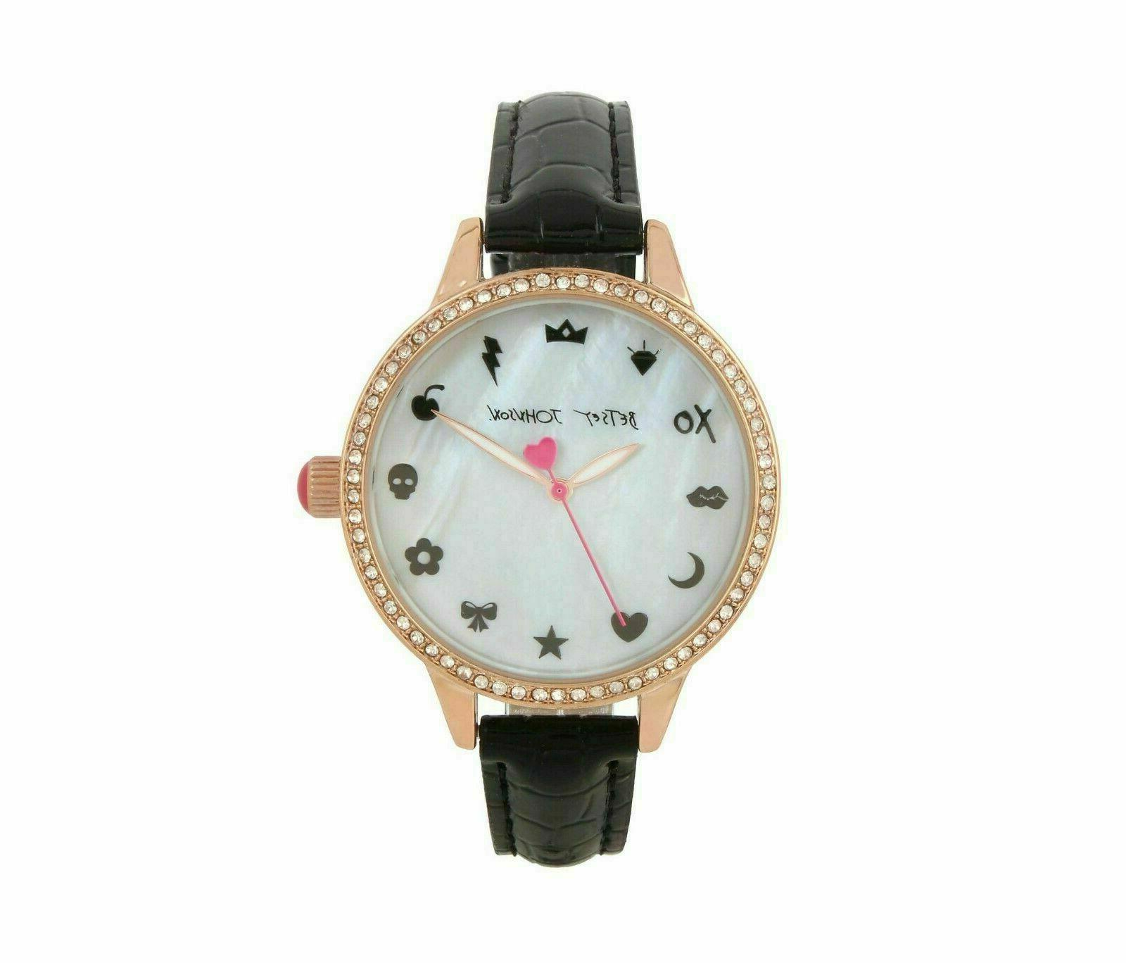 watch rose gold mother of pearl black