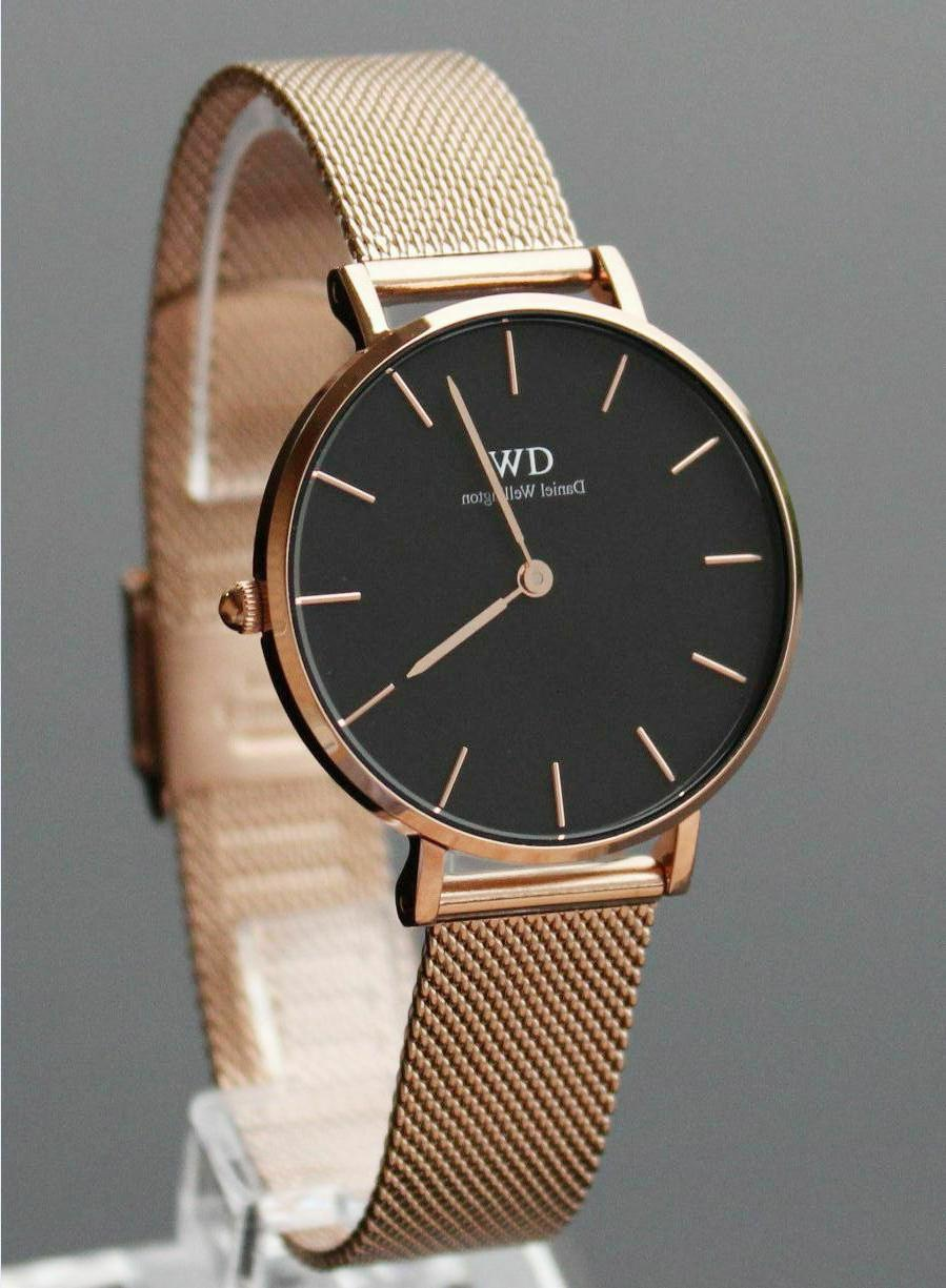 Daniel Wellington Women Classic Black/ Rose Gold Face Petite