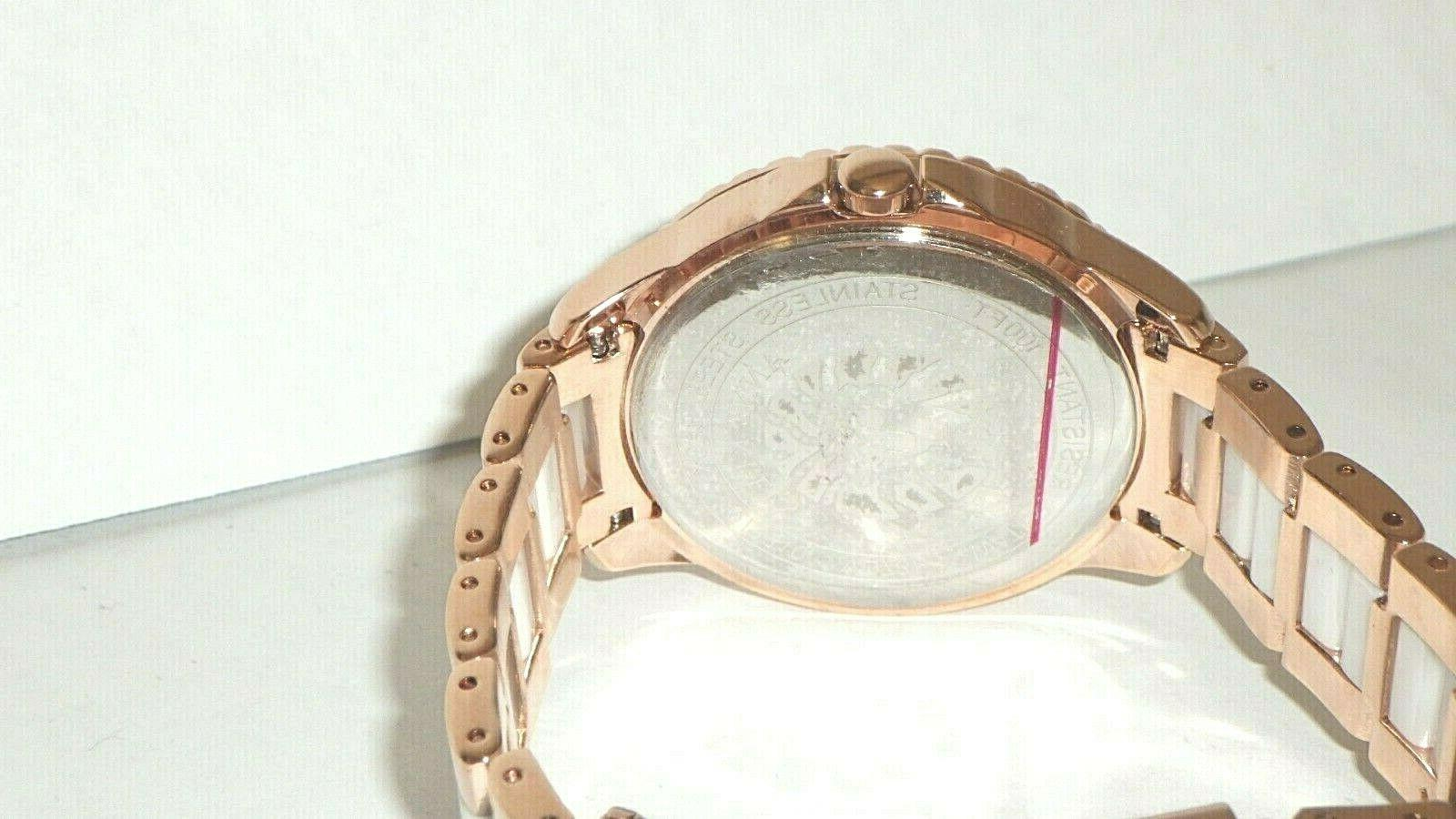 Anne Crystal Accented Rose Tone Dial