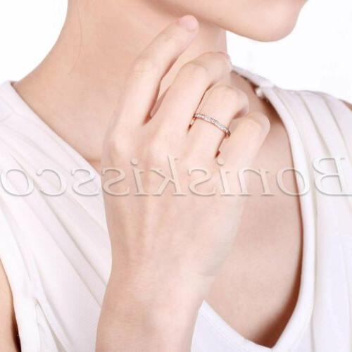 Women's Slim Eternity Ring Cubic Engagement Band