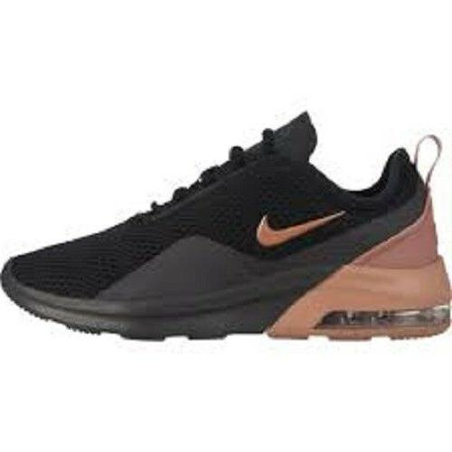 nike air max motion 2 women's black and