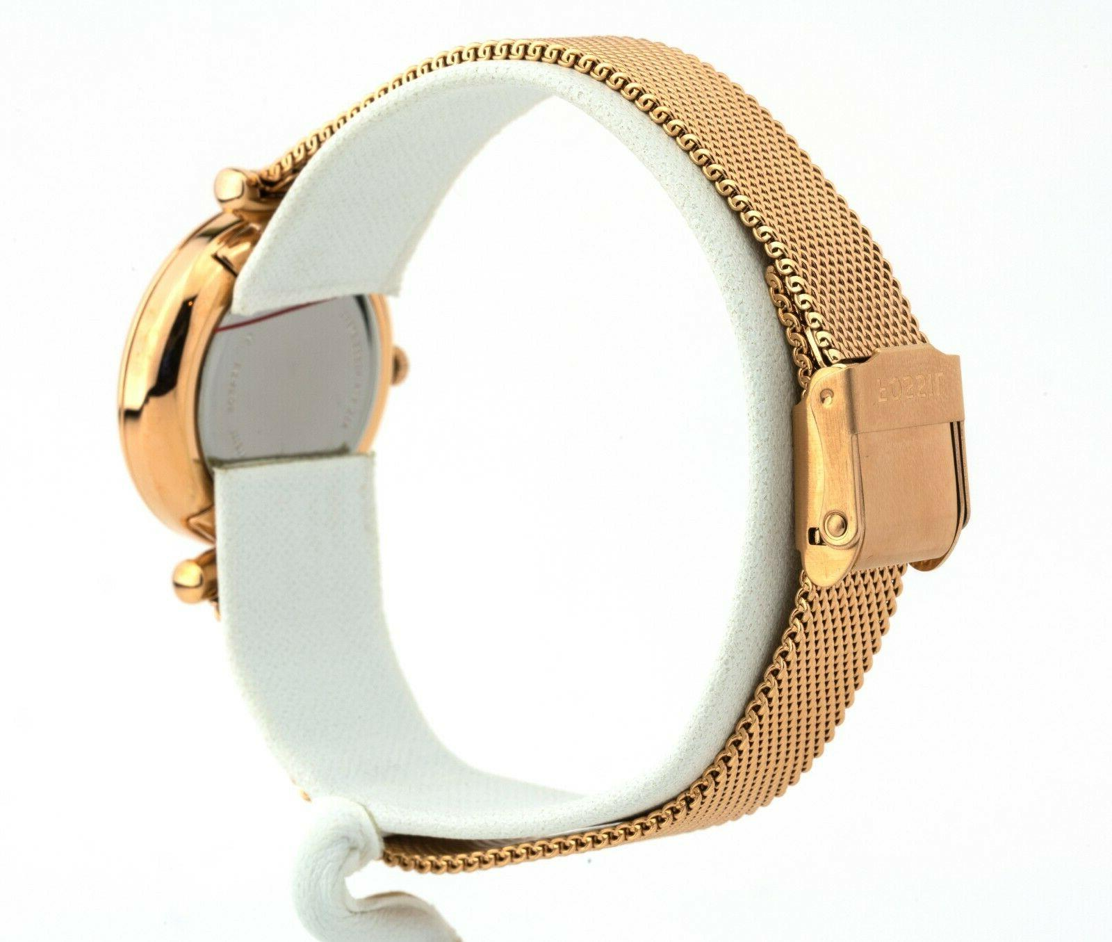 Women's Carlie Rose Gold-Tone Stainless Steel Watch New