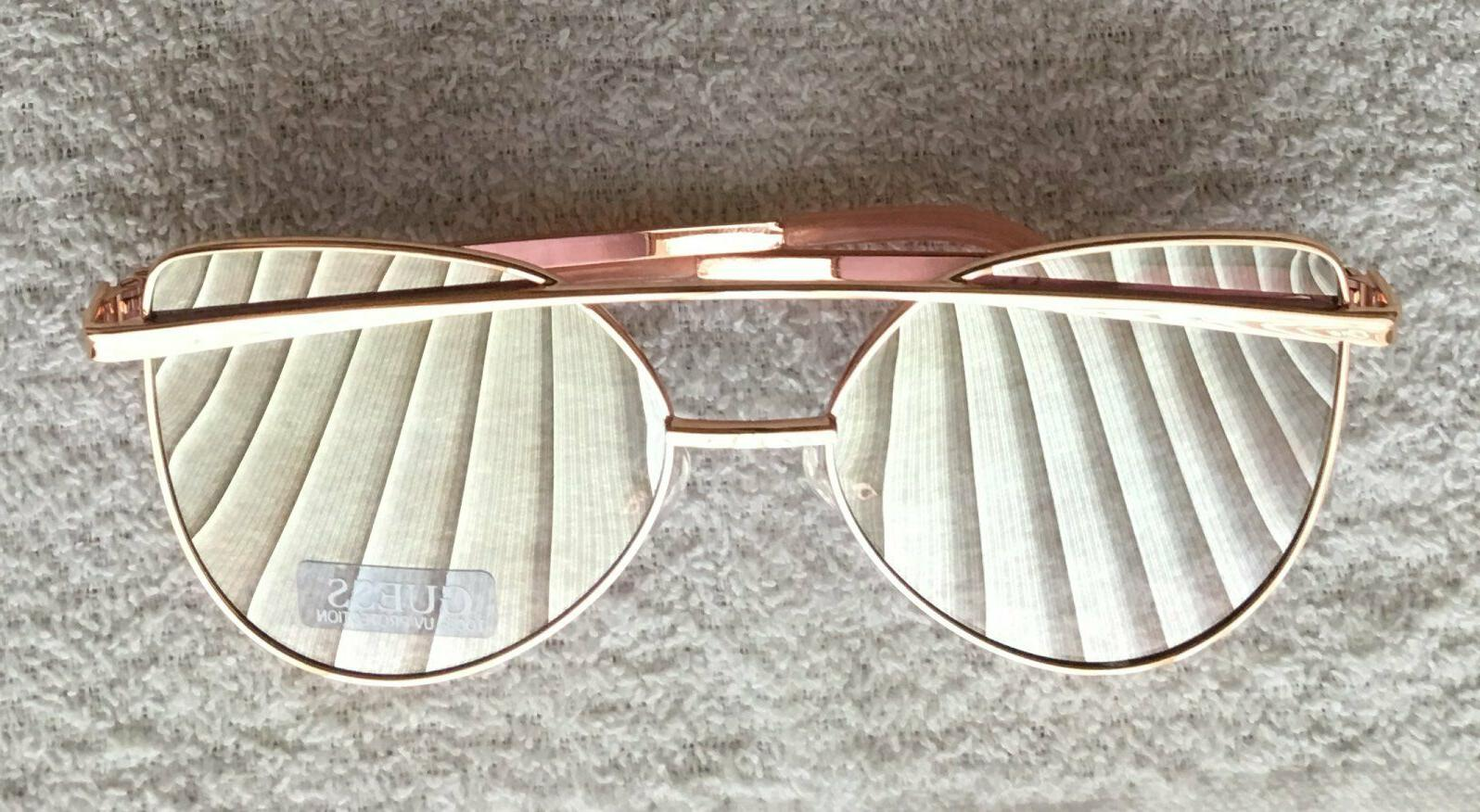 Guess Women's Sunglasses Rose Pink Mirror