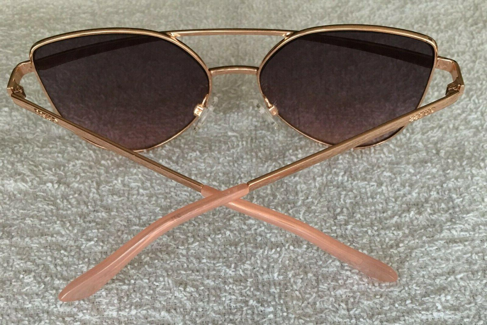 Guess Cat Eye Sunglasses Rose Gold Mirror GF0332 28T