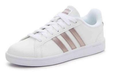Women's ADIDAS CLOUDFOAM ADVANTAGE White+Rose Gold Fashion S