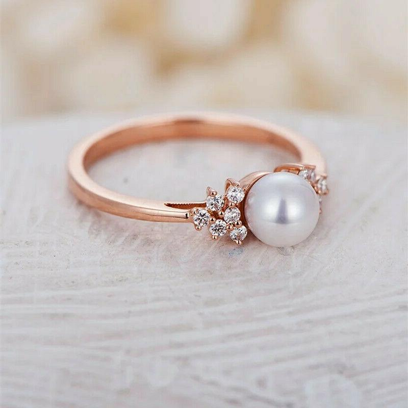 Women's Crystal Gold Ring Wedding Rings Jewelry 6-10