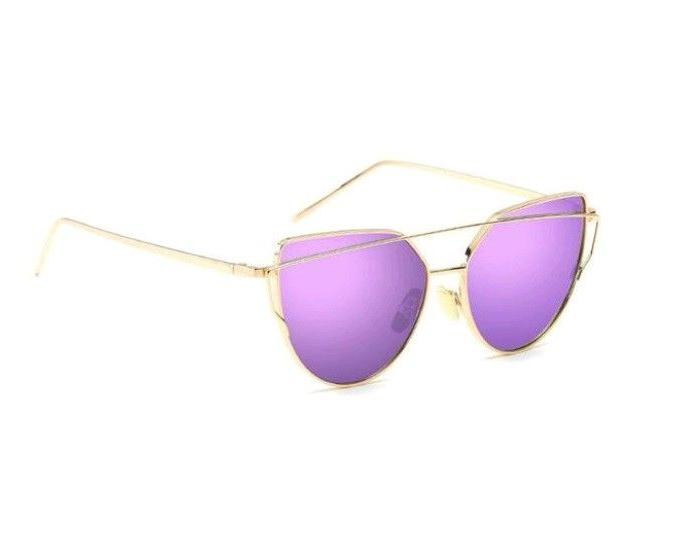 Women's Cat Eye Twin Beam Sunglasses Gold You