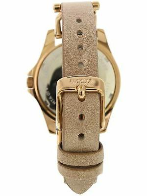 Fossil Rose-Gold Leather Fashion