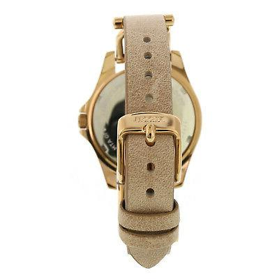 Fossil Rose-Gold Leather