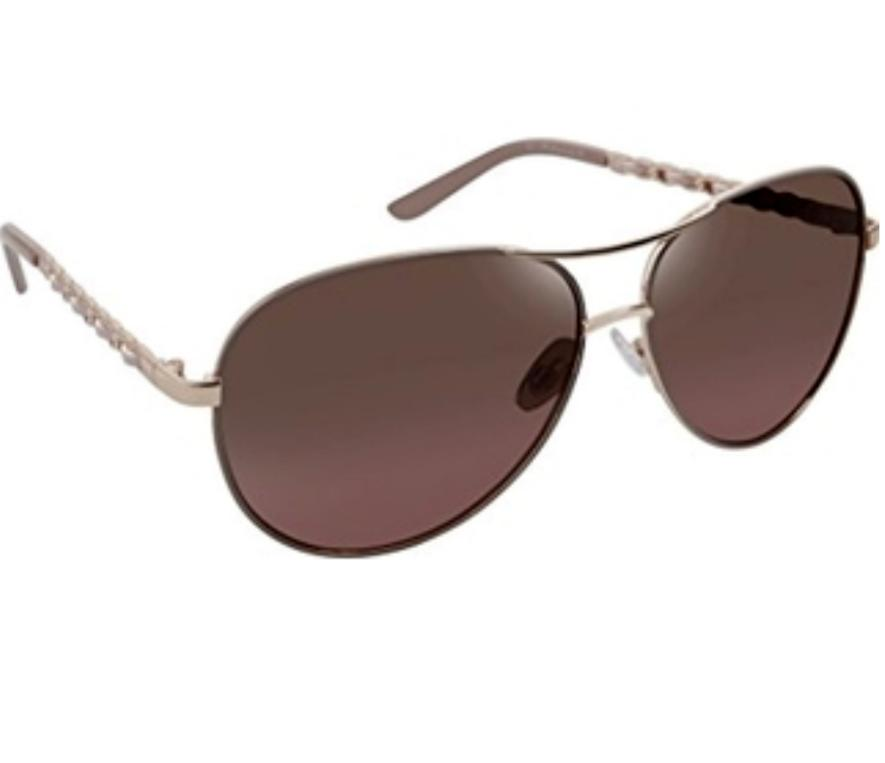 Tahari Women's TH649 RGDBL Aviator Sunglasses, Rose Gold/Blu