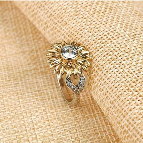 Women Silver Rose Gold Plated Promise Wedding Jewelry