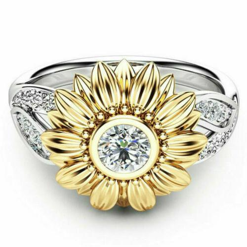 Women Silver Gold Plated Zircon Promise Jewelry