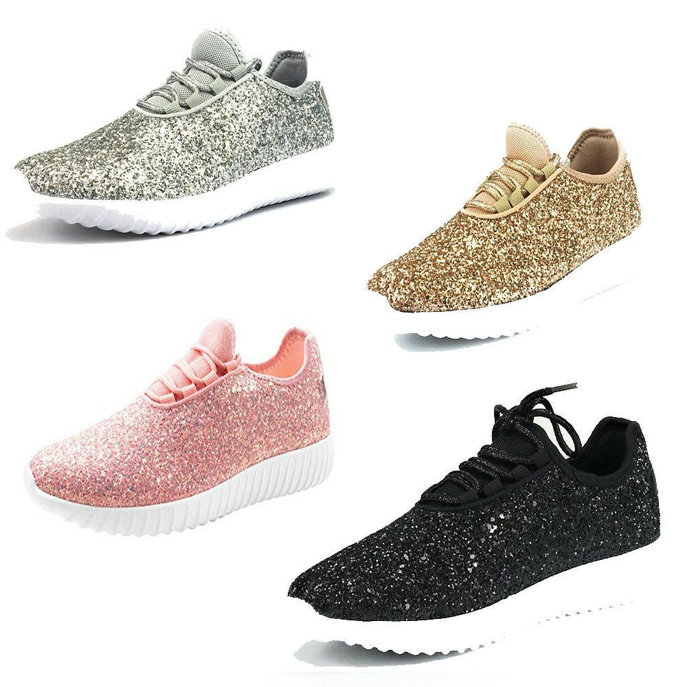 d6ac97555079 Womens Forever Link Remy-18 Lace up Glitter Fashion Sneaker