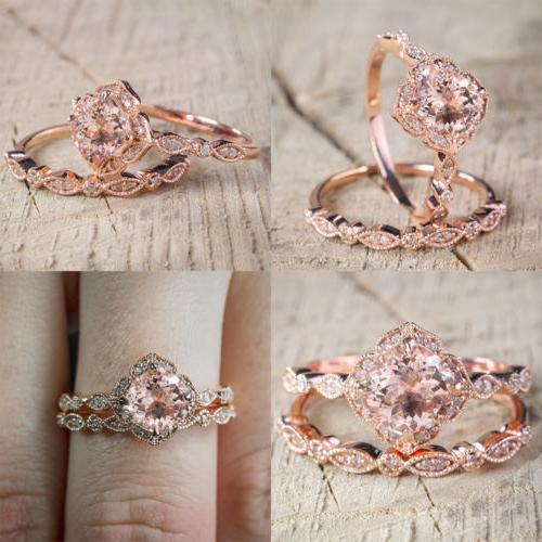 Womens Jewelry Plated 925 Silver Rose Gold Diamont Wedding E