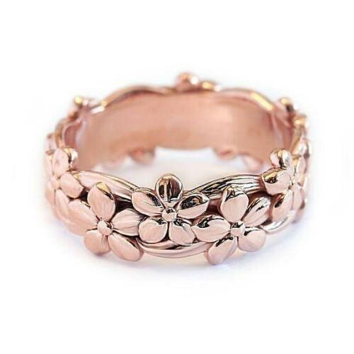 womens rose gold silver floral flower band
