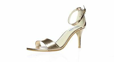 womens sillly rose gold ankle strap heels