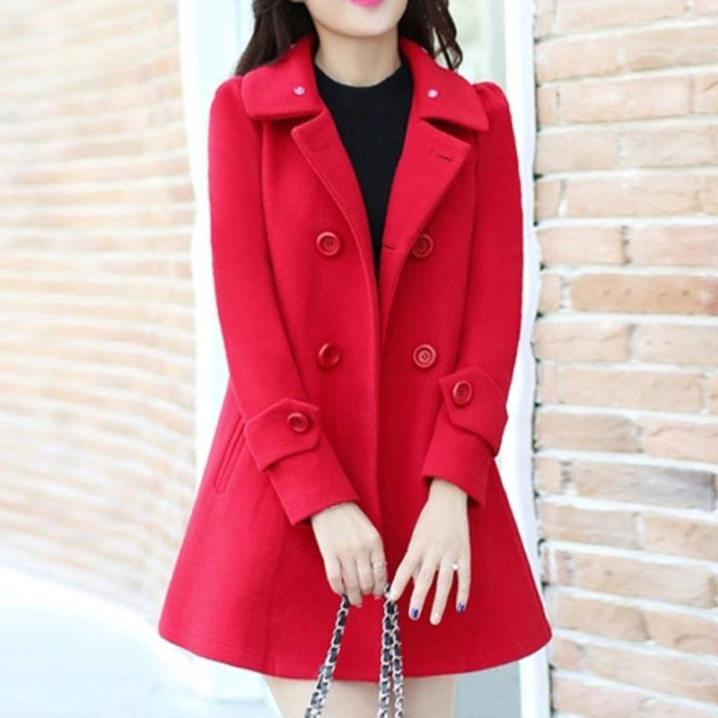 Womens Jacket Collar Outwear Cardigan Coat Overcoat