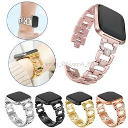 Lady Bling Rhinestone Stainless Steel Watch Wrist Band Strap