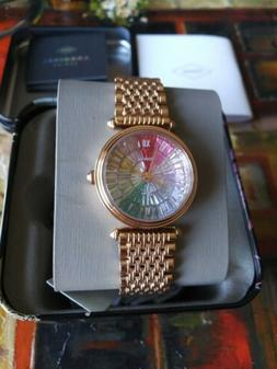 Fossil Limited Edition Rose Gold Stainless Steel Rainbow Wom
