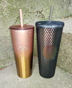 STARBUCKS Lot Of 2 Fall 2020 New Tumblers Spiked Irredecent