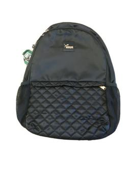 Puma Lux Quilted Backpack Black With Rose Gold , Laptop Pock