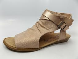 3e37a9c695a Blowfish Malibu Balla Gladiator ROSE GOLD Zip Up Sandals Wom